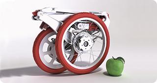 O bicicletă în servietă pentru orașe ecologice