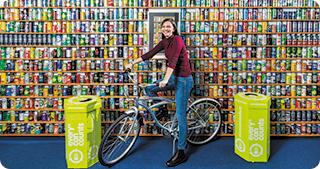 Ricicletta, Bicicleta din 800 de doze de aluminiu a ajuns în România