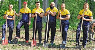 Federaţia Națională de Rugby și Romsilva au plantat stejari la Brănești